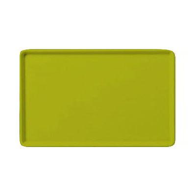 "Carlisle 1520LFG008 Rectangular Cafeteria Tray - Low-Edge, 20-1/4x15"" Avocado"