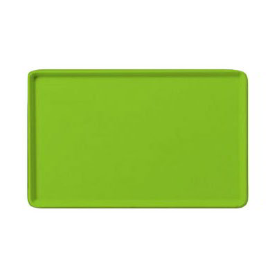 "Carlisle 1520LFG009 Rectangular Cafeteria Tray - Low-Edge, 20-1/4x15"" Lime"