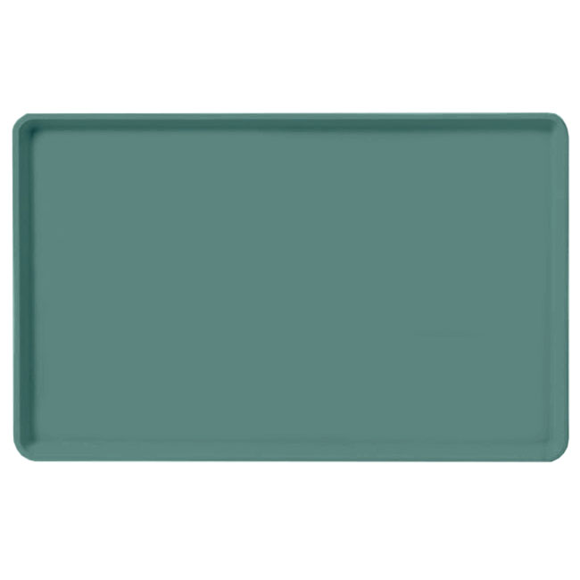 "Carlisle 1520LFG010 Rectangular Cafeteria Tray - Low-Edge, 20-1/4x15"" Forest Green"