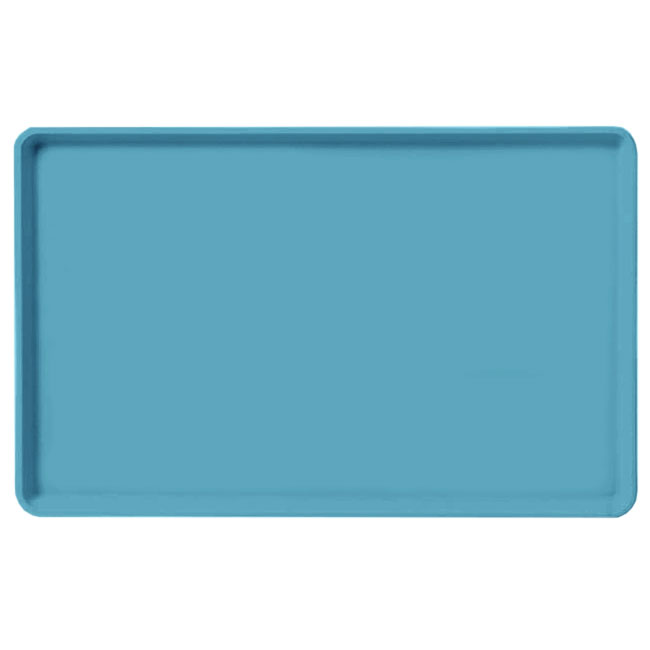 "Carlisle 1520LFG011 Rectangular Cafeteria Tray - Low-Edge, 20-1/4x15"" Turquoise"