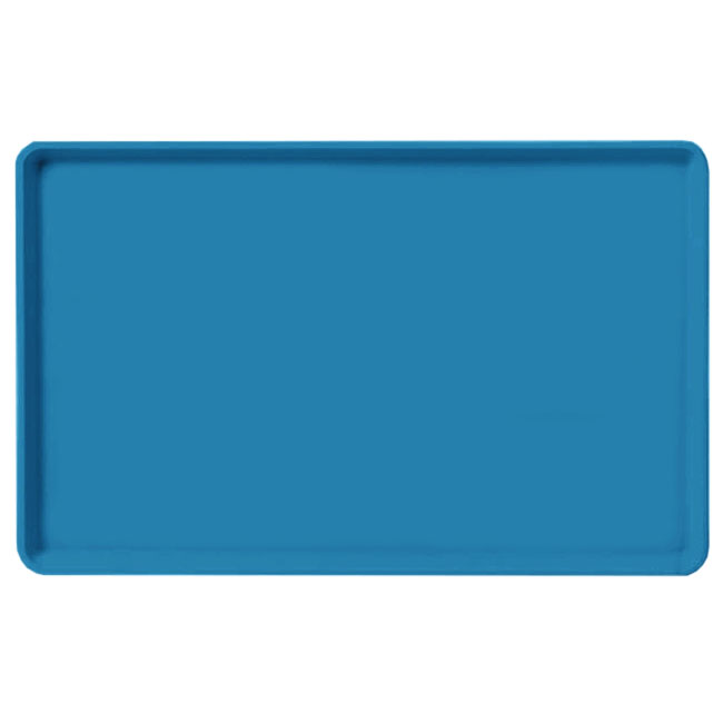 "Carlisle 1520LFG013 Rectangular Cafeteria Tray - Low-Edge, 20-1/4x15"" Ice Blue"
