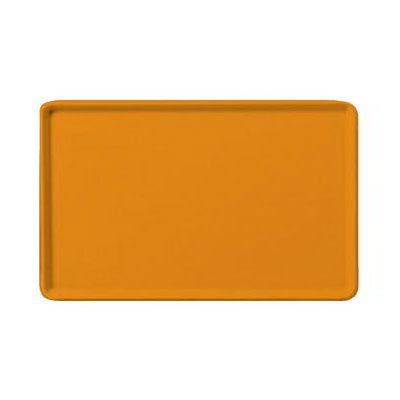"Carlisle 1520LFG019 Rectangular Cafeteria Tray - Low-Edge, 20-1/4x15"" Rust"