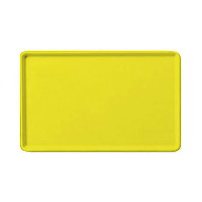 "Carlisle 1520LFG021 Rectangular Cafeteria Tray - Low-Edge, 20-1/4x15"" Pineapple"