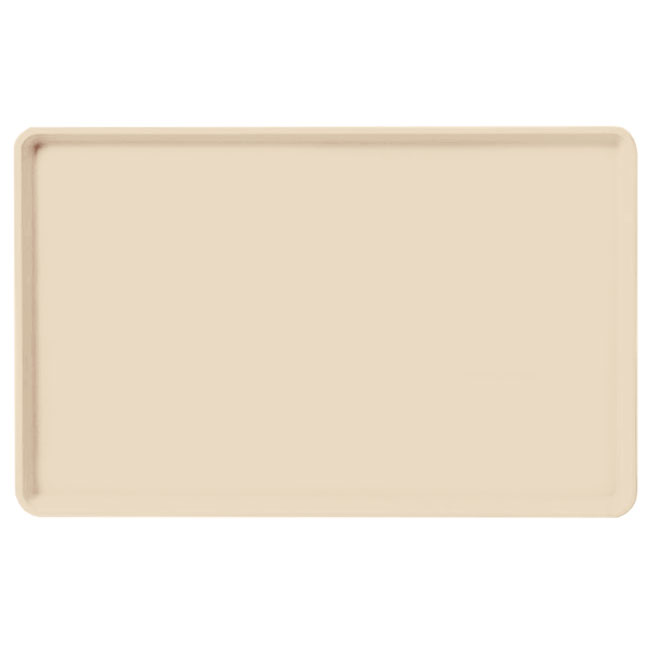 "Carlisle 1520LFG022 Rectangular Cafeteria Tray - Low-Edge, 20-1/4x15"" Ivory"