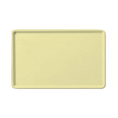 "Carlisle 1520LFG024 Rectangular Cafeteria Tray - Low-Edge, 20-1/4x15"" Lemon"