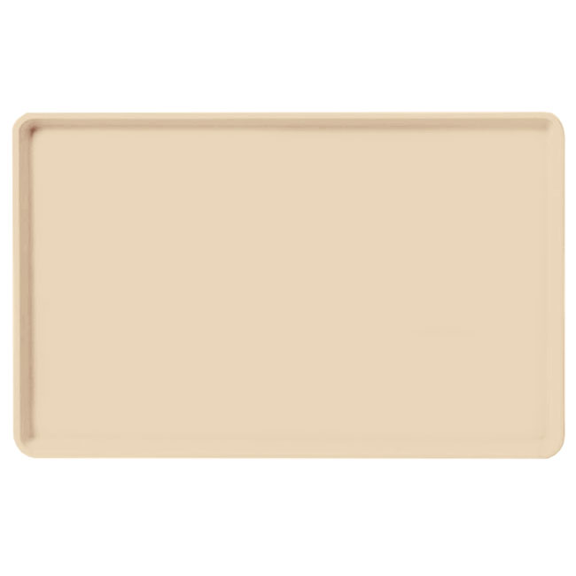 "Carlisle 1520LFG025 Rectangular Cafeteria Tray - Low-Edge, 20-1/4x15"" Beige"