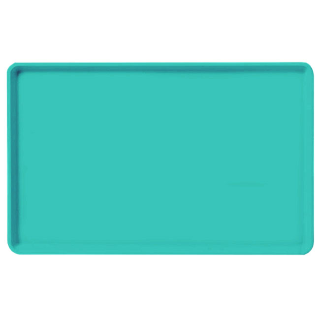 "Carlisle 1520LFG051 Rectangular Cafeteria Tray - Low-Edge, 20-1/4x15"" Teal"