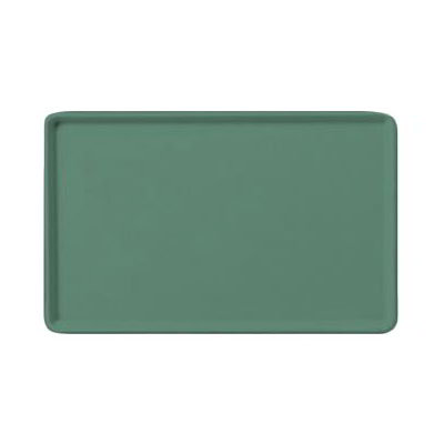 "Carlisle 1520LFG053 Rectangular Cafeteria Tray - Low-Edge, 20-1/4x15"" Jade"