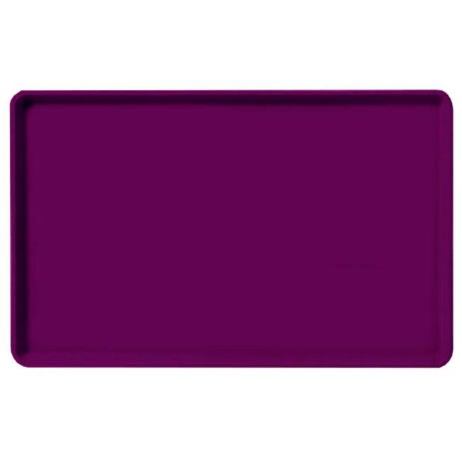 "Carlisle 1520LFG054 Rectangular Cafeteria Tray - Low-Edge, 20-1/4x15"" Mulberry"