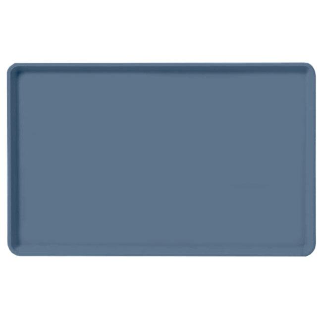 "Carlisle 1520LFG067 Rectangular Cafeteria Tray - Low-Edge, 20-1/4x15"" Slate Blue"