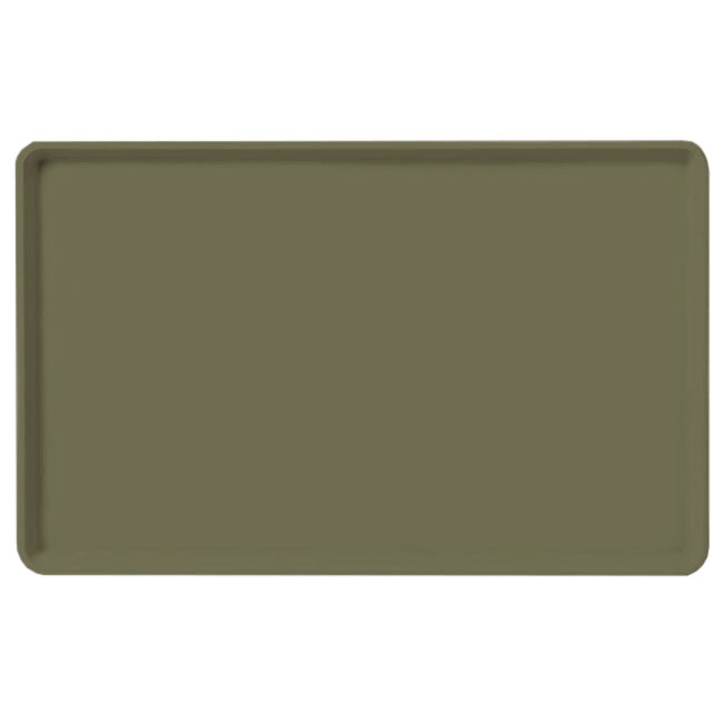 "Carlisle 1520LFG076 Rectangular Cafeteria Tray - Low-Edge, 20-1/4x15"" Toffee Tan"