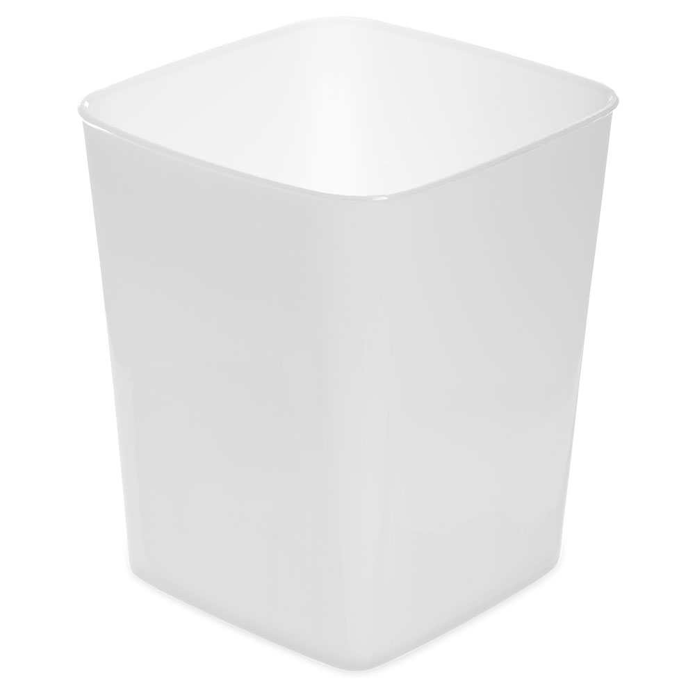 Carlisle 154402 4-qt Square Food Storage Container - White