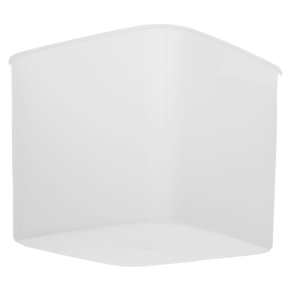 Carlisle 155602 6-qt Square Food Storage Container - White