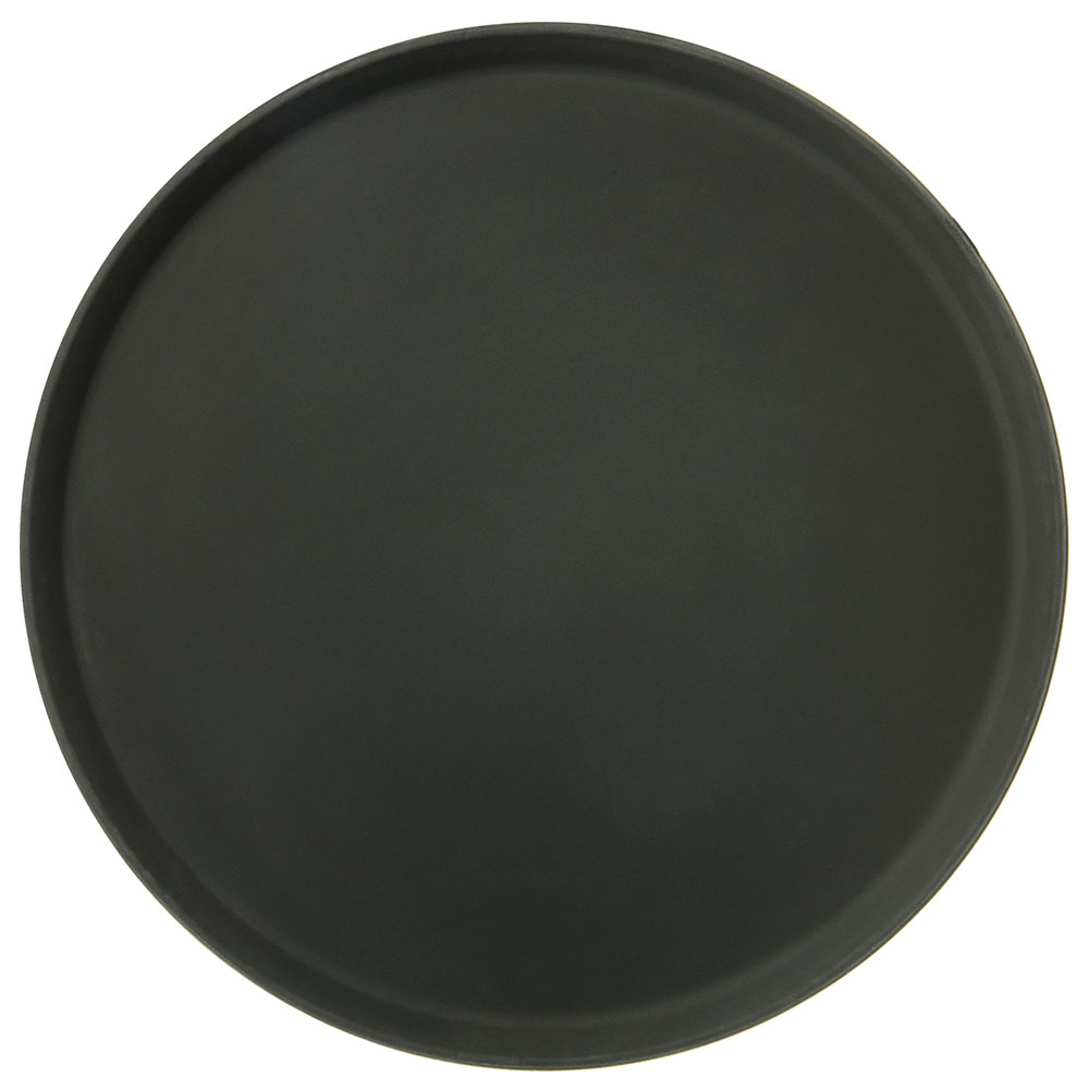 "Carlisle 1600GR004 16"" Round Serving Tray - Black"