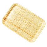"Carlisle 1612FG003 Rectangular Cafeteria Tray - 16-3/8x12"" Natural"