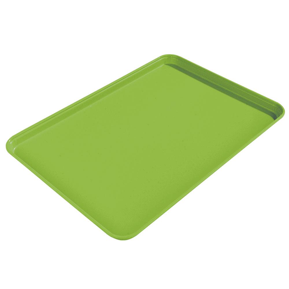 "Carlisle 1612FG009 Rectangular Cafeteria Tray - 16-3/8x12"" Lime"