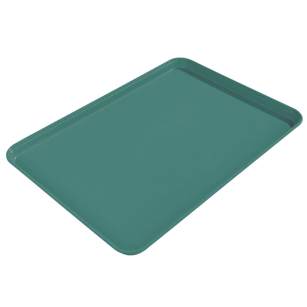 "Carlisle 1612FG010 Rectangular Cafeteria Tray - 16-3/8x12"" Forest Green"