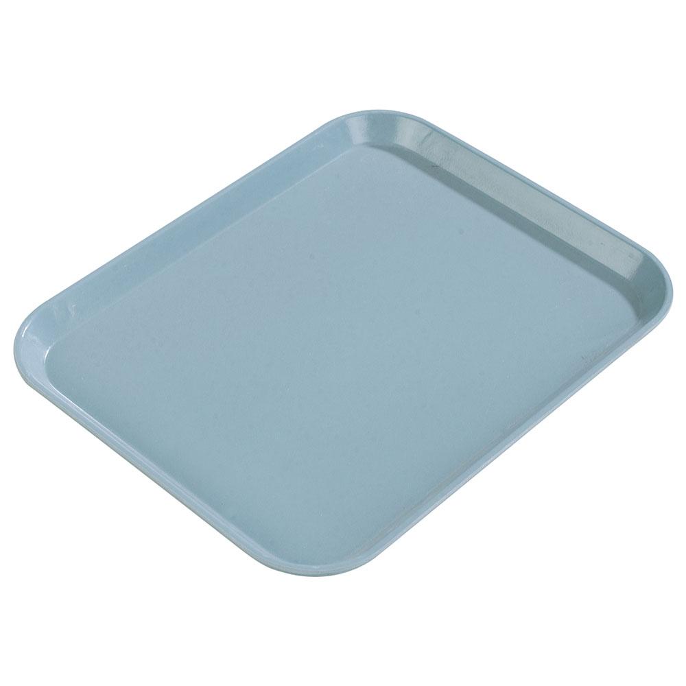 "Carlisle 1612FG012 Rectangular Cafeteria Tray - 16-3/8x12"" Sea Spray"