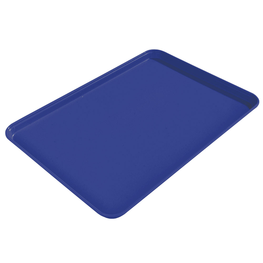 "Carlisle 1612FG014 Rectangular Cafeteria Tray - 16-3/8x12"" Ice Blue"