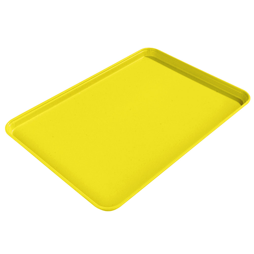 "Carlisle 1612FG021 Rectangular Cafeteria Tray - 16-3/8x12"" Pineapple"