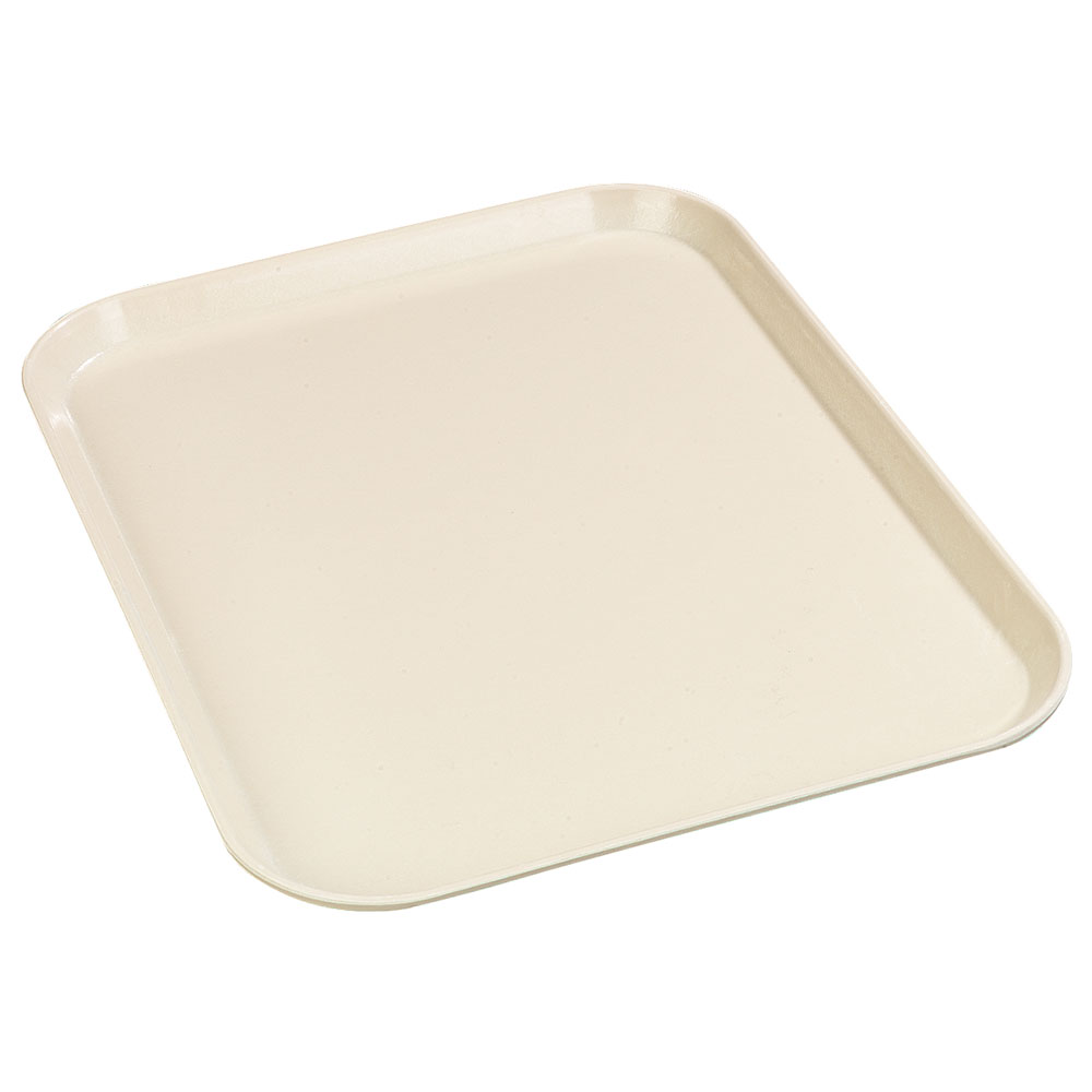 "Carlisle 1612FG022 Rectangular Cafeteria Tray - 16-3/8x12"" Pineapple"