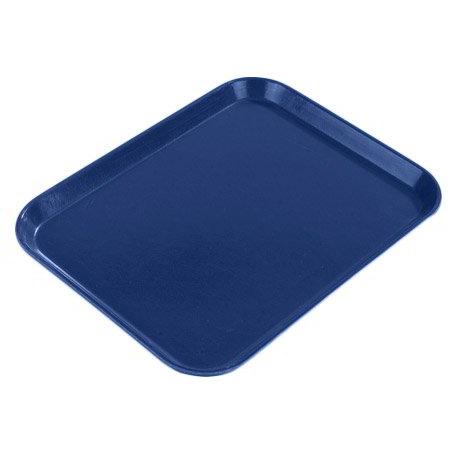 "Carlisle 1612FG051 Rectangular Cafeteria Tray - 16-3/8x12"" Sapphire Blue"