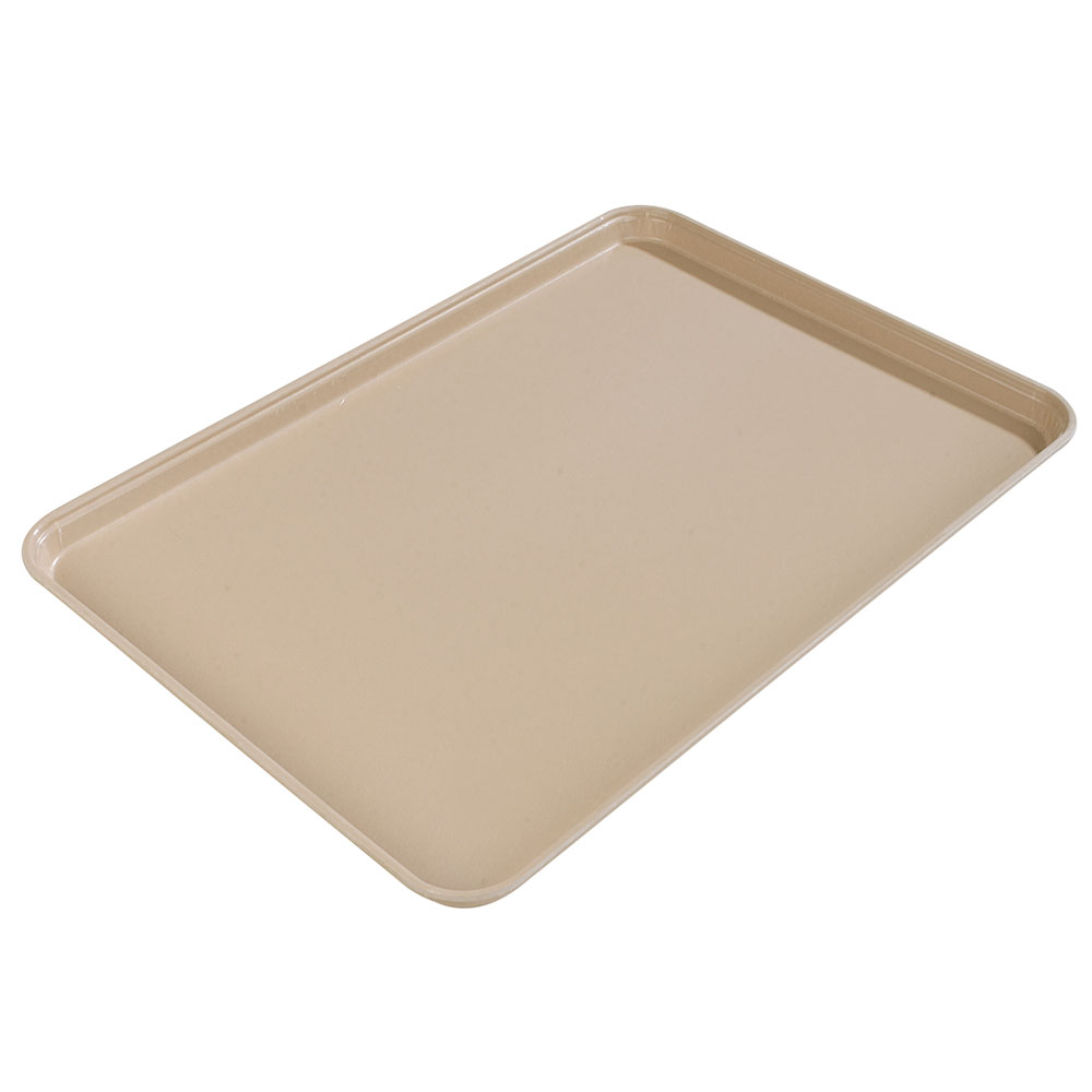 "Carlisle 1612FG095 Rectangular Cafeteria Tray - 16-3/8x12"" Almond"