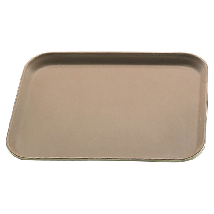 "Carlisle 1612GR076 Rectangular Serving Tray - 16-3/8x12"" Tan"
