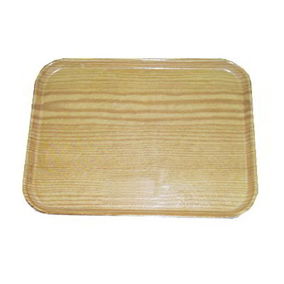"Carlisle 1612WFG065 Rectangular Cafeteria Tray - 16-3/8x12"" Light Oak Woodgrain"