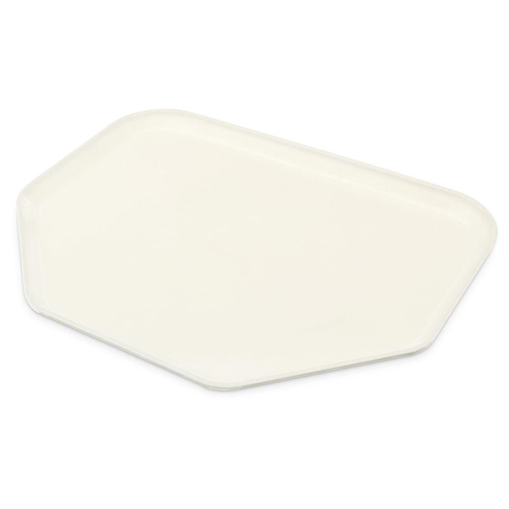 """Carlisle 1713FG001 Trapezoid Cafeteria Tray - 18x14"""" Bone White"""