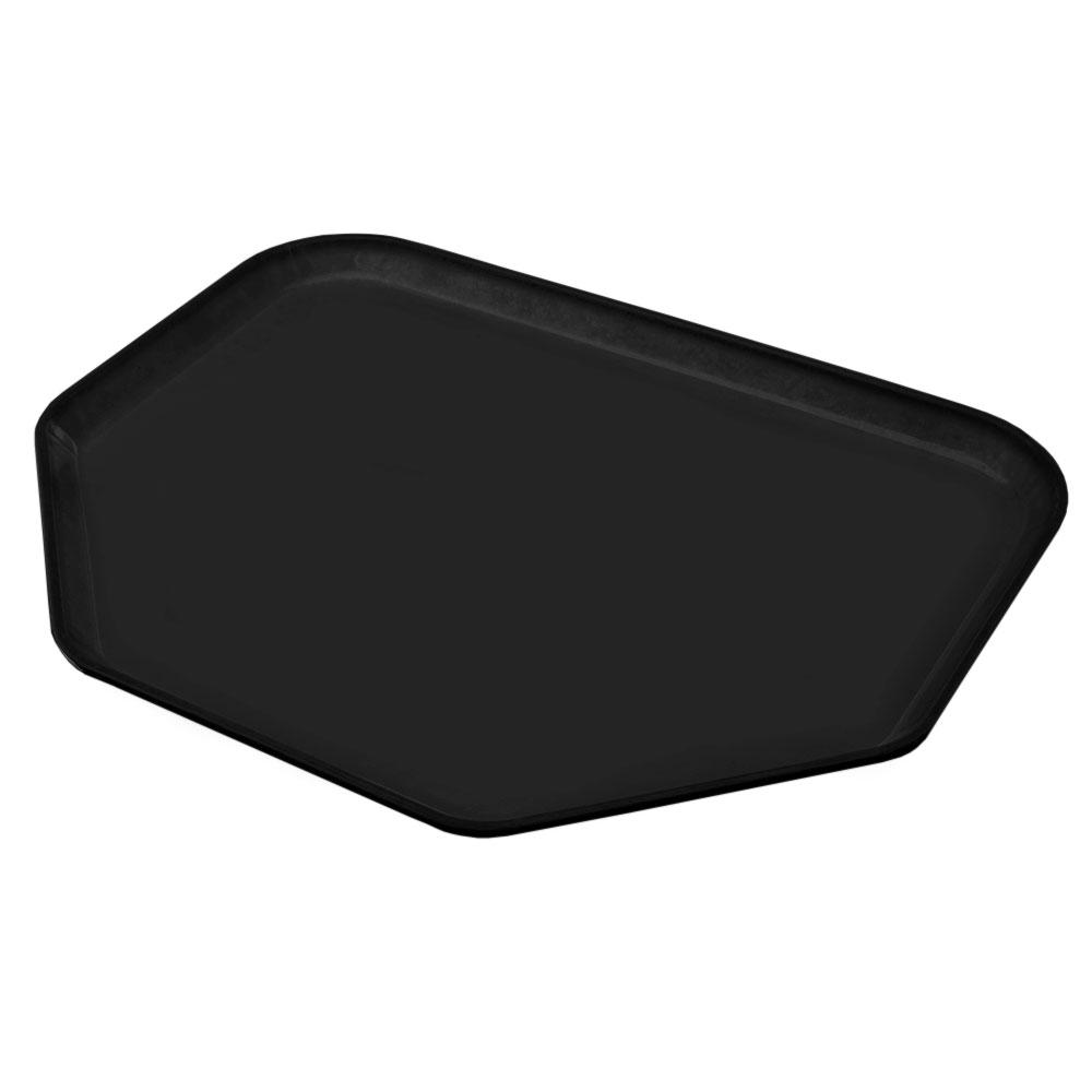 "Carlisle 1713FG004 Trapezoid Cafeteria Tray - 18x14"" Black"