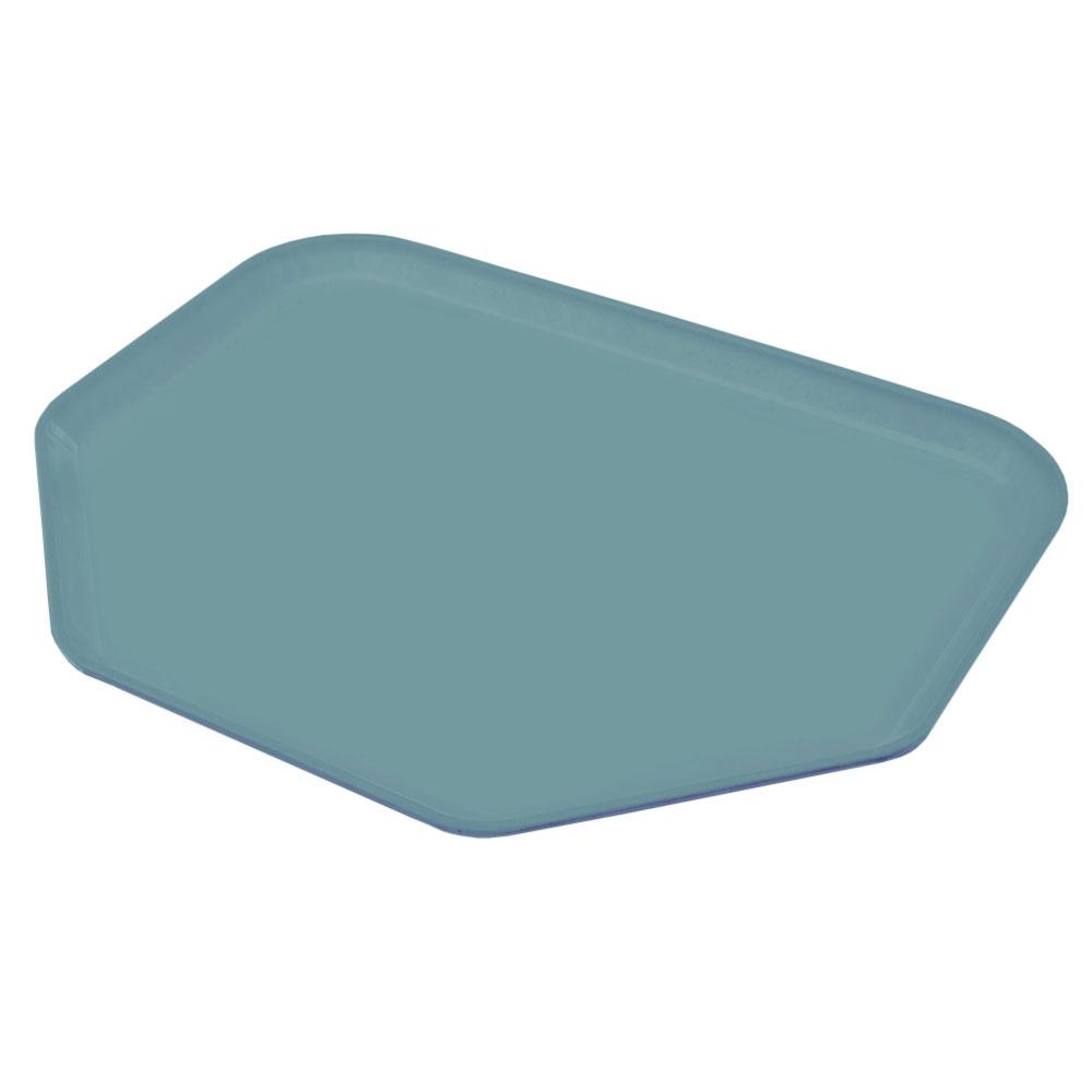 "Carlisle 1713FG006 Trapezoid Cafeteria Tray - 18x14"" Ultramarine"