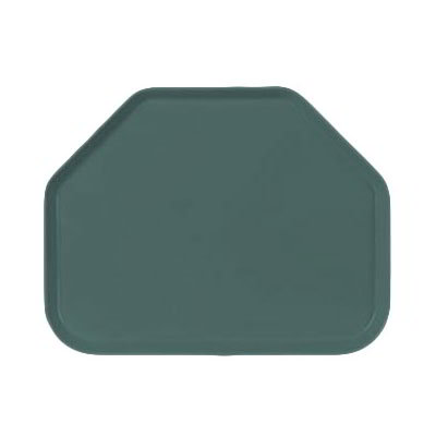 "Carlisle 1713FG010 Trapezoid Cafeteria Tray - 18x14"" Forest Green"