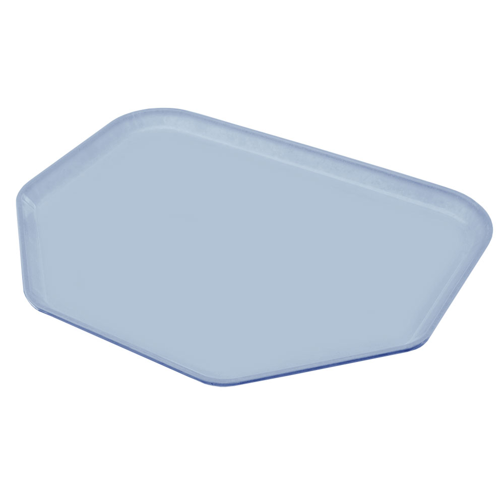 "Carlisle 1713FG012 Trapezoid Cafeteria Tray - 18x14"" Sea Spray"