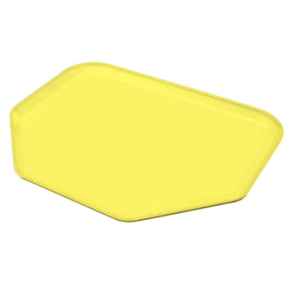 "Carlisle 1713FG021 Trapezoid Cafeteria Tray - 18x14"" Pineapple"