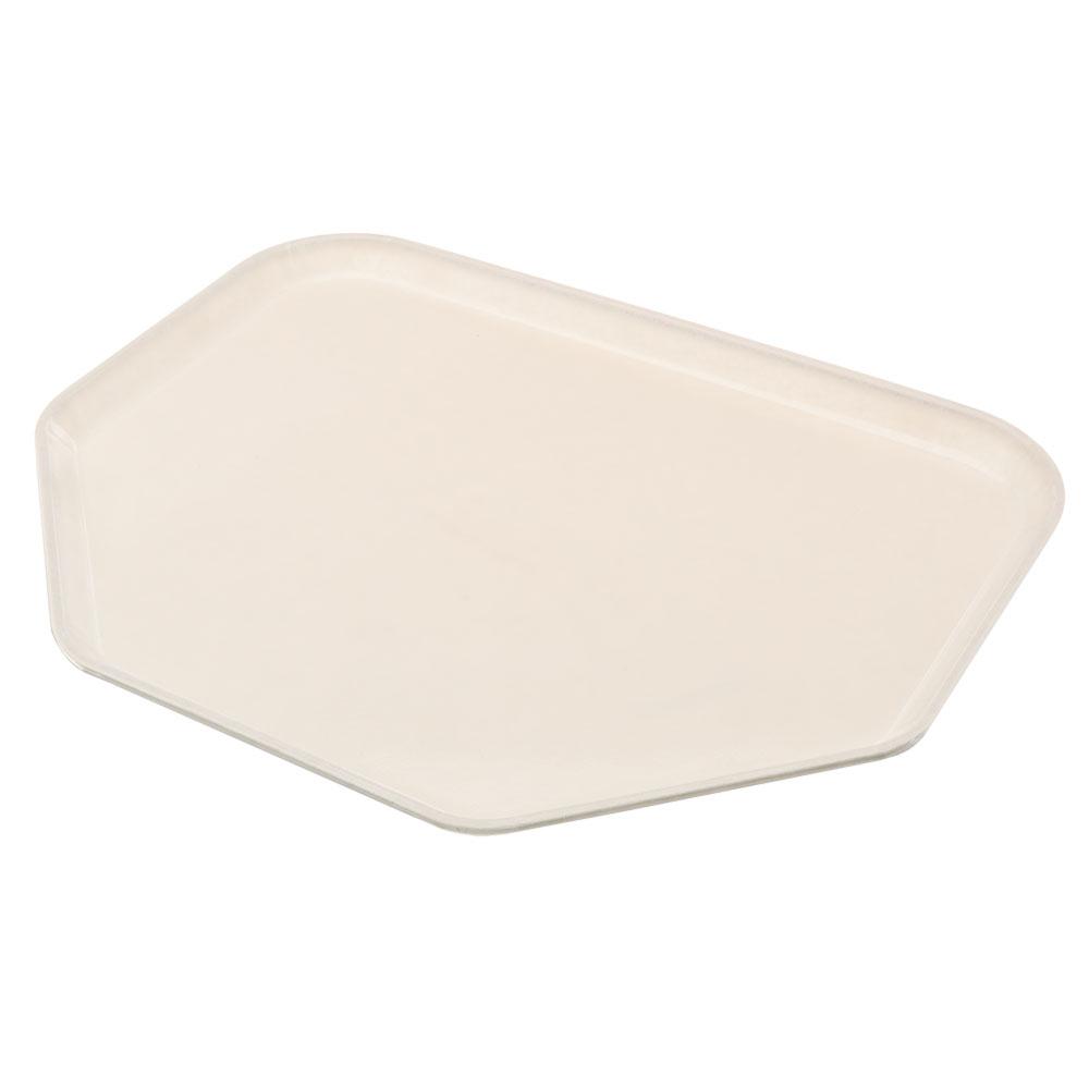 "Carlisle 1713FG022 Trapezoid Cafeteria Tray - 18x14"" Ivory"