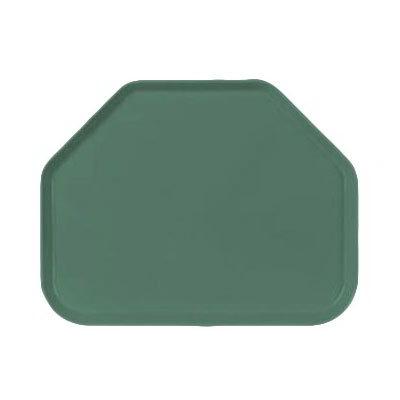 """Carlisle 1713FG053 Trapezoid Cafeteria Tray - 18x14"""" Jade"""