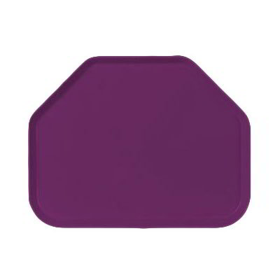 "Carlisle 1713FG054 Trapezoid Cafeteria Tray - 18x14"" Mulberry"