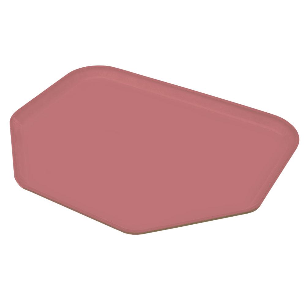 """Carlisle 1713FG066 Trapezoid Cafeteria Tray - 18x14"""" Mauve"""