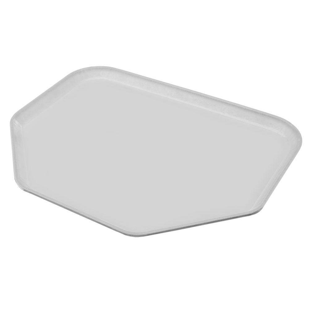"""Carlisle 1713FG068 Trapezoid Cafeteria Tray - 18x14"""" Gray"""