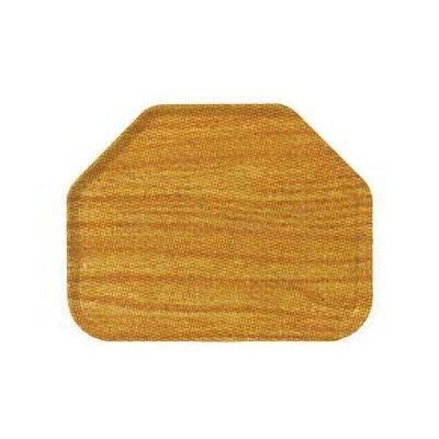 "Carlisle 1713WFG065 Trapezoid Cafeteria Tray - 18x14"" Light Oak Woodgrain"