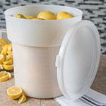 Carlisle 180002 18-qt Round Bain Marie Container - White
