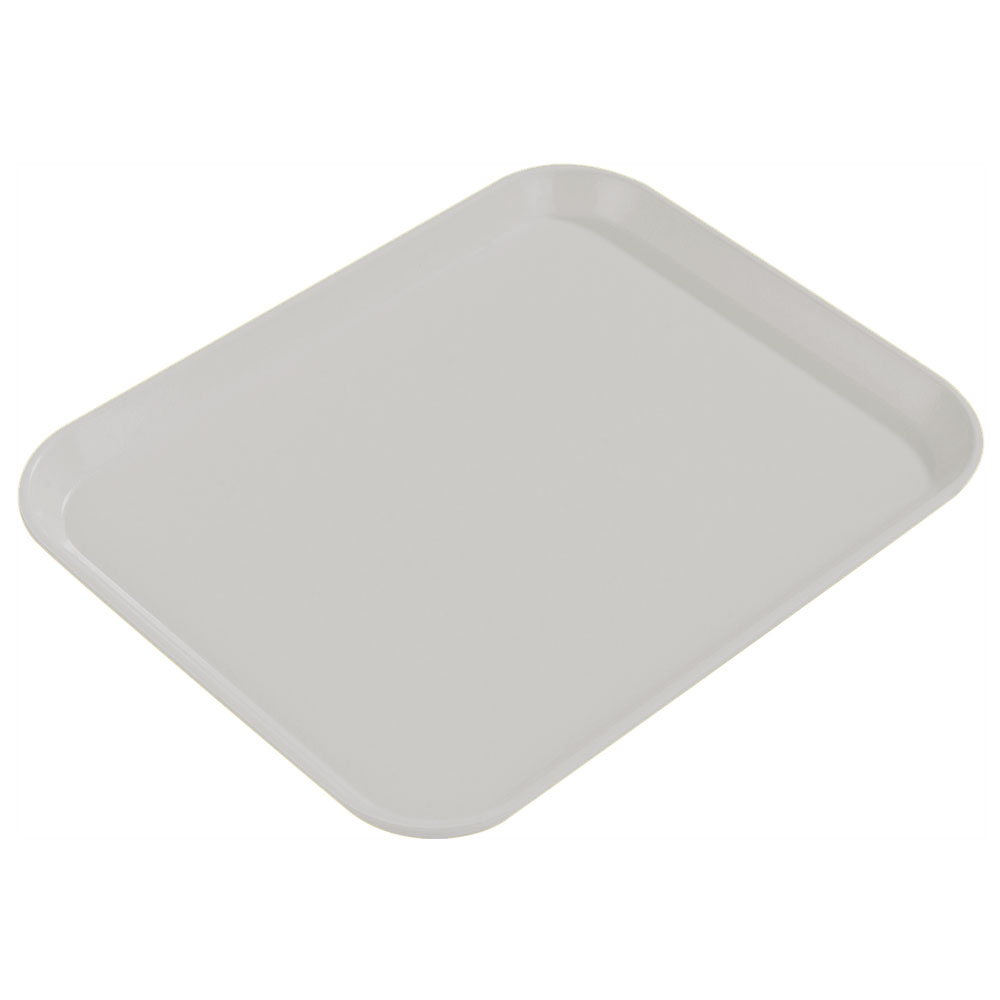 "Carlisle 1814FG002 Rectangular Cafeteria Tray - 18x14"" Smoke Gray"