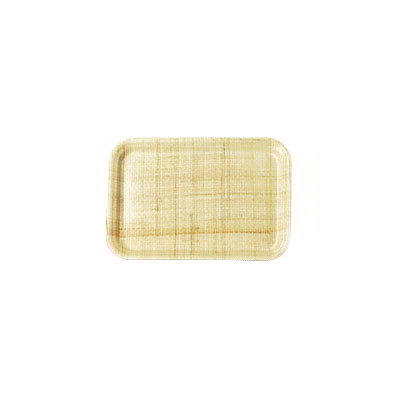 "Carlisle 1814FG003 Rectangular Cafeteria Tray - 18x14"" Natural"