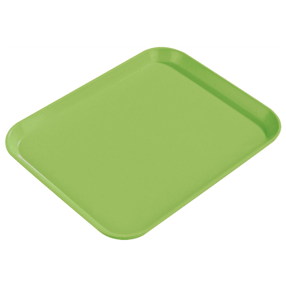 "Carlisle 1814FG009 Rectangular Cafeteria Tray - 18x14"" Lime"