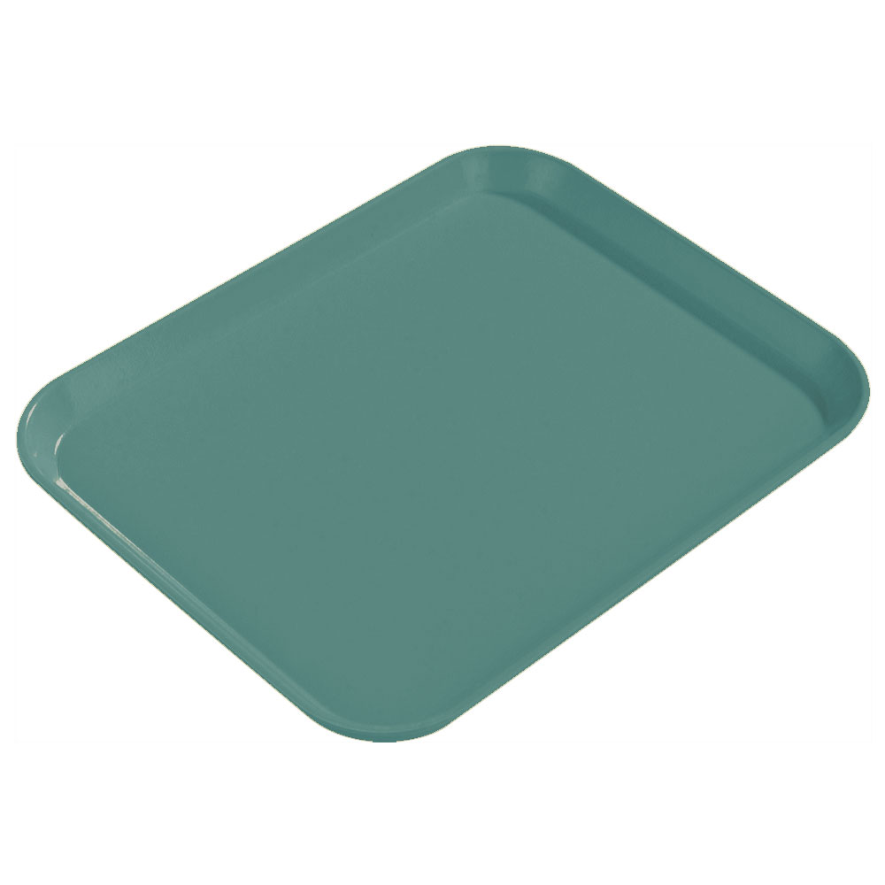 "Carlisle 1814FG010 Rectangular Cafeteria Tray - 18x14"" Forest Green"