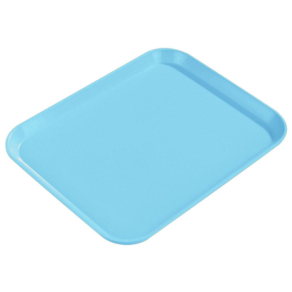 "Carlisle 1814FG011 Rectangular Cafeteria Tray - 18x14"" Turquoise"