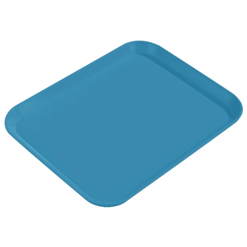 "Carlisle 1814FG013 Rectangular Cafeteria Tray - 18x14"" Ice Blue"