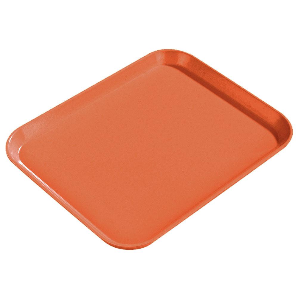 "Carlisle 1814FG018 Rectangular Cafeteria Tray - 18x14"" Orange"
