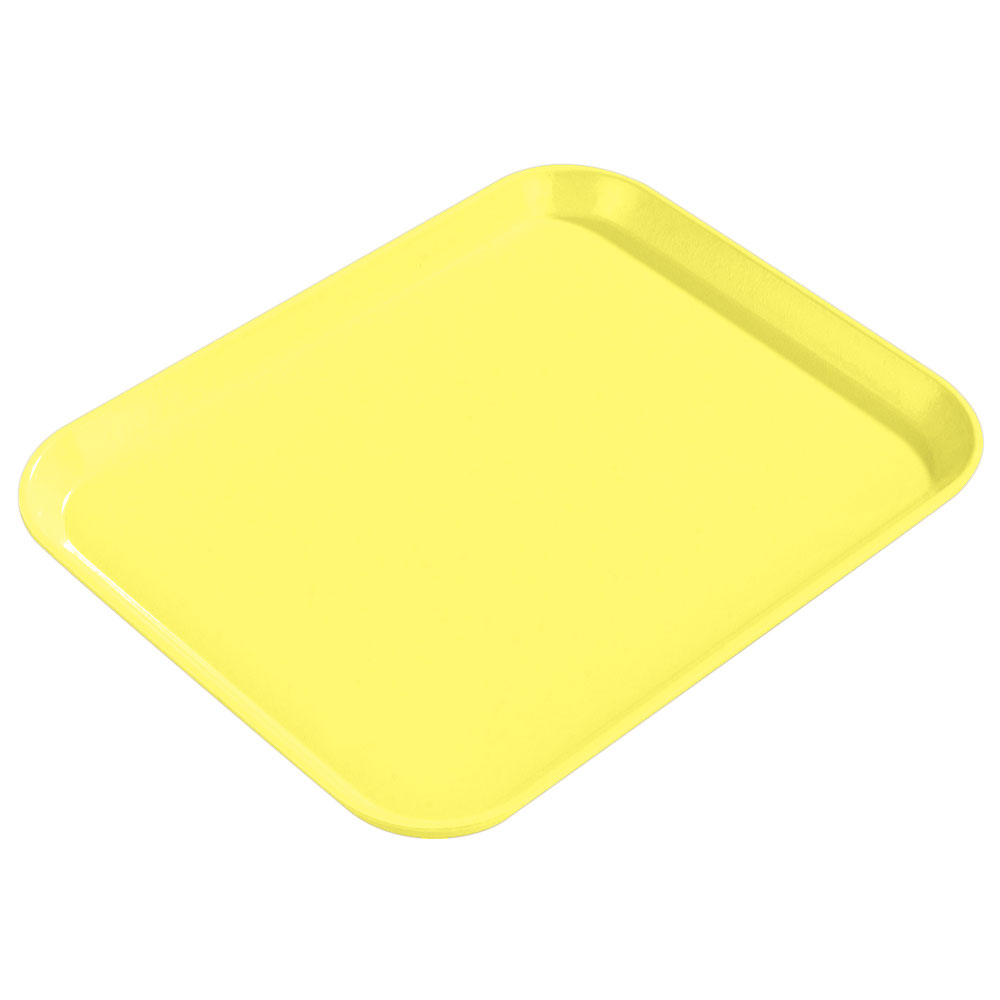 "Carlisle 1814FG021 Rectangular Cafeteria Tray - 18x14"" Pineapple"